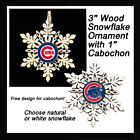 FREE DESIGN > CHICAGO CUBS, 2 Designs - Snowflake Ornament, Natural or White on Ebay
