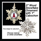 FREE DESIGN > LOS ANGELES ANGELS - Snowflake Ornament, Natural or White on Ebay