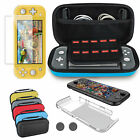 5 IN1 for Nintendo Switch Lite Travel Carrying Case Bag+Case+Tempered Glass Film