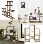 Home Multi-Tier Bamboo Plant Stand Planter Rack Flower Bookcase Pots Display RI