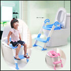 Kids Trainer Toilet Potty Training Seat Baby Toddler Chair Padded Seat Ladder  image