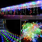 MultiColor 96-1000 LED Xmas Curtain Icicle String Net Mesh Fairy Lights Party BA