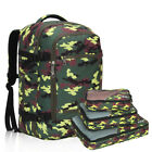 40L Flight Approved Carry on Travel Backpack with S/3 Packing Cubes Luggage Pack