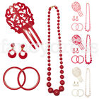 Spanish Accessory Set Pieneta Earrings Necklace Bracelets Flamenco Dance NEW