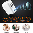1080p HD WIFI Mini Hidden Camera 2 USB Wall Charger Adapter Motion Detection New
