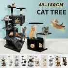 Large Cat Tree Scratcher Cat Scratching Cat Post Climbing Activity Centre Grey