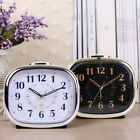 Silent Sweep With Night Light Non Ticking Alarm Clock Desk Snooze Decoration