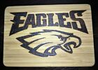 NFL Bamboo Cutting Board Sealed Artwork Hand Burnt Pyography Bar Mancave $20.0 USD on eBay