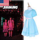 The Shining Grady Twin Lisa and Louis Adult Blue Lolita Dress Party Suit+Socks