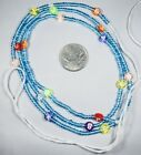 Elegant Tie On African Waist Beads Belly Chain Jewelry Shiny multicolor Variety