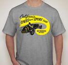 """California Speed and Sport Shop Vintage Tshirt 50's """"Free 4 Shop Decals"""""""