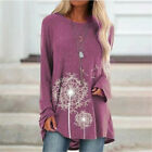 Plus Size Women Long Sleeve Tunic Top Pullover Ladies Pocket Jumper Blouse 12-24