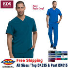 Dickies Scrubs Set EDS ESSENTIALS Men's V-Neck Top  Drawstring Pant DK635/DK015