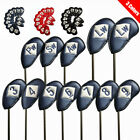 12 Pcs Golf Club Iron Head Covers Leather Headcovers AylorMade Callaway Ping