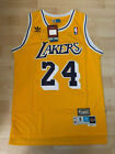 #24 Kobe Bryant Los Angeles Lakers Vintage Retro Stitched Yellow Jersey