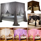 4 Corners Princess Bed Canopy Mosquito Netting Bedding Net Twin Full Queen King image