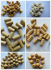 50 Natural Wooden Beads Mixed Wood Shapes and Sizes. For Schools Holiday Crafts