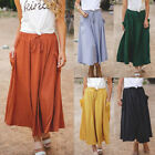 Women New Casual A-line High Waist Long Midi Flare Party Loose Fit Pocket Skirt