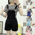 Women Suspender Casual Trousers Shorts Pants Denim Overalls Jumpsuits Playsui xb
