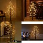 Hairui Pre Lit Faux Norway Pine Tree Snow Flocked 6FT 126LED for Indoor Outdoor