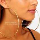 5 Inch Large Hoop Earrings Gold Or Silver Thin, Circle Oversize Hoop