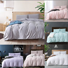 Solid Color Duvet Cover Sets Washed Cotton Bedding Pillowcase Twin/Queen/King