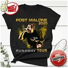 FREESHIP Post Runaway Tour 2020 Malone Hiphop T-Shirt Malone Rapper Black S-6XL image