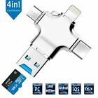4 in 1 USB 3.0 Flash Drive Memory Stick TF Card Reader for iPhone Android Type-C