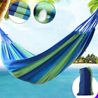 Stripe Fabric Bed Portable Garden Hammock Perfect for Camping Outdoors Travel