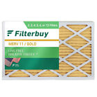 FilterBuy 14x30x1, Pleated HVAC AC Furnace Air Filter, MERV 11, AFB Gold