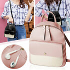 Women Girls School Bag PU Leather Backpack Mini Rucksack Purse Travel Handbag US