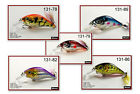 "Pack of 5 Akuna Glittertail 3"" Shallow Diving Square Bill Bass Fishing Lures"