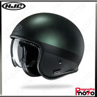 CASCO JET OPEN FACE CUSTOM CON PARASOLE HJC V30 PEROT MC4SF