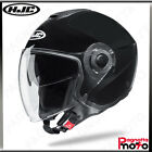 CASCO JET OPEN FACE DOPPIA VISIERA HJC I40 SOLID BLACK NERO