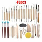 Sculpting Clay Tools Set Wooden Handle Pottery Polymer Carving Wax Arts Crafts image