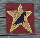 Crow on a Harvest Star Primitive Rug Hooking KIT WITH #8 CUT WOOL STRIPS