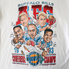 Vintage 90's Buffalo Bills Super Bowl XXVIII Cartoon Caricature T-Shirt A054 image