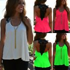 ZANZEA Women Shirt Tee Off Shoulder Tank Tops Lace Crochet Patchwork Blouse US