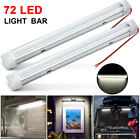 5x 12V 72 LED Car Interior White Strip Lights Bar Lamp Car Van Caravan Boat Home