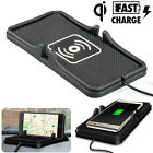 Qi Wireless Car Charger Charging Pad Non-Slip Mount For iPhone X Samsung S9 S10