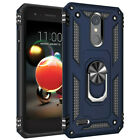 For LG Tribute Dynasty/Empire/Aristo 3 Plus Case Ring Stand Cover Case+Car Mount