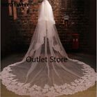 Ivory   3.5m*3m Two Layer Sequins Lace Wedding Veil Long Bridal Veil