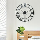 40cm large cut-out roman numerals skeleton wall clock big giant open face round