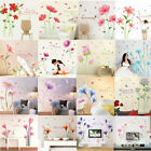 Multi Flowers Wall Sticker Decal Vinyl Art Mural For Diy Home Decor Removable