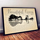 Luke Combs Beautiful Crazy Song Music Lyrics Art Print Canvas Wall Decor Gifts