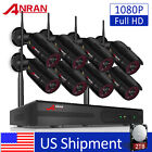 ANRAN 8CH P2P 1080P Wireless Home Security Camera System Outdoor WIFI 2TB HDD US, used for sale  Shipping to Nigeria