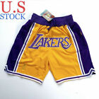 Los Angeles Lakers Basketball Team Shorts Sewn Summer League  Lebron James GOLD