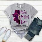 Best Mimi Ever - Anemone Purple  Personalized T-Shirt