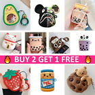 AirPods Cute Cartoon Silicone Case 3D Cover Skin Protective for Apple Airpod 1 2