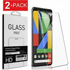 2-Pack Premium Tempered Glass Screen Protector For Google Pixel 2 3 3a 4 XL